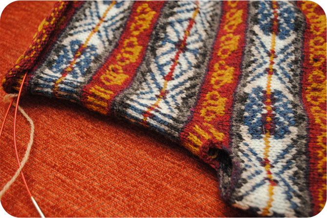 Simple beauty of a steek in my fair isle knit | By Gum, By Golly