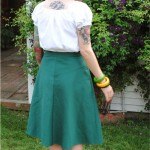 Finished project: bias-cut green skirt
