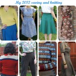 Reflections on my 2012 sewing and knitting