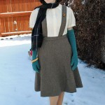 Finished: Hollywood Patterns tweed pinafore skirt