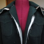 40s jacket progress: the lining (sewing & attaching)