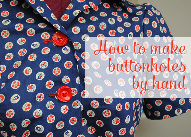 how to make buttonholes by hand