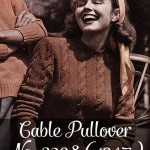 Free vintage knitting pattern: Cable Pullover No. 3298 (1947)