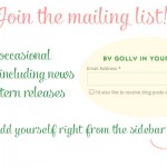 Join the By Gum, By Golly mailing list!