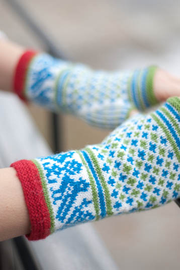 Birds and Blooms Mitts by Veronik Avery