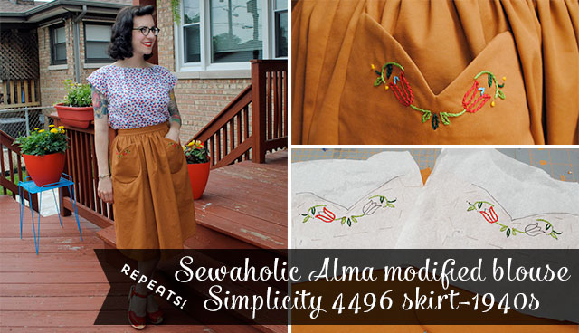 Sewaholic Alma modified and Simplicity 4496