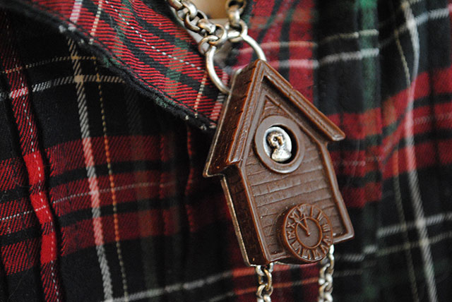 Classic Hardware Retrolite cuckoo clock necklace
