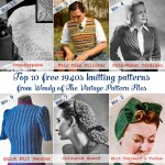 Guest post: Top 10 free 1940s knitting patterns from the Vintage Pattern Files