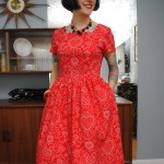 A very vintage Valentine dress
