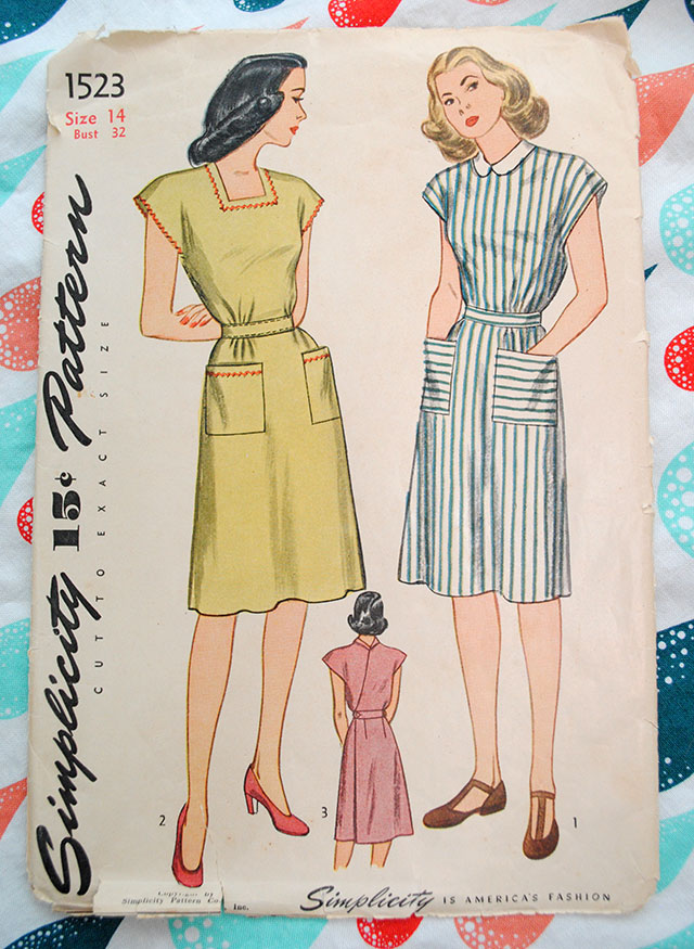 Simplicity 1523, pattern from 1945