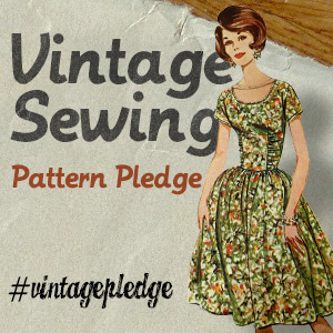 Vintage Sewing Pattern Pledge