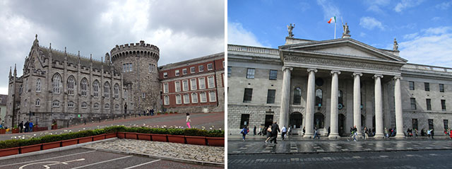 post office and Dublin Castle
