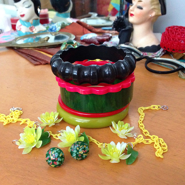 Bakelite bangles, Idaho Reds necklace | By Gum, By Golly