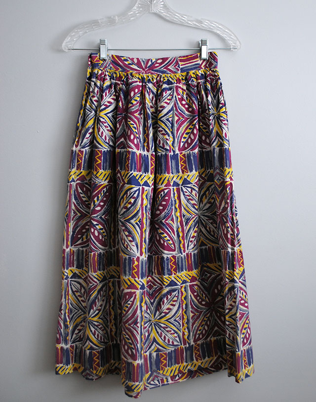 purple and violet vintage skirt