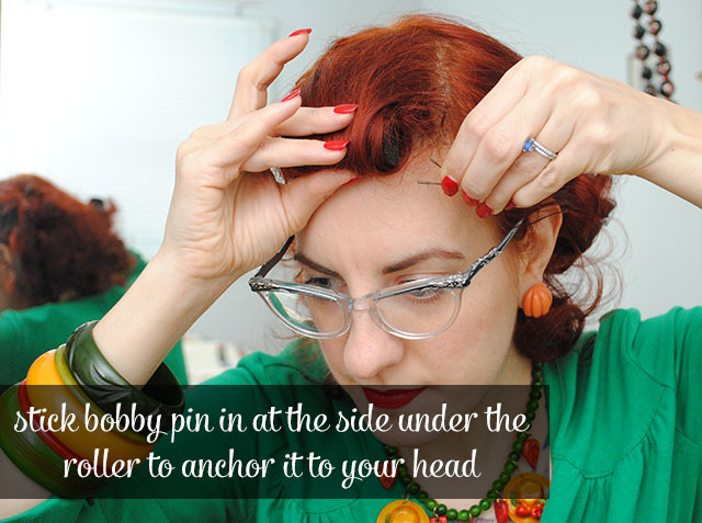 anchor roll with a bobby pin
