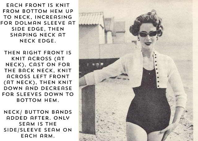 details on how this vintage pattern is knit
