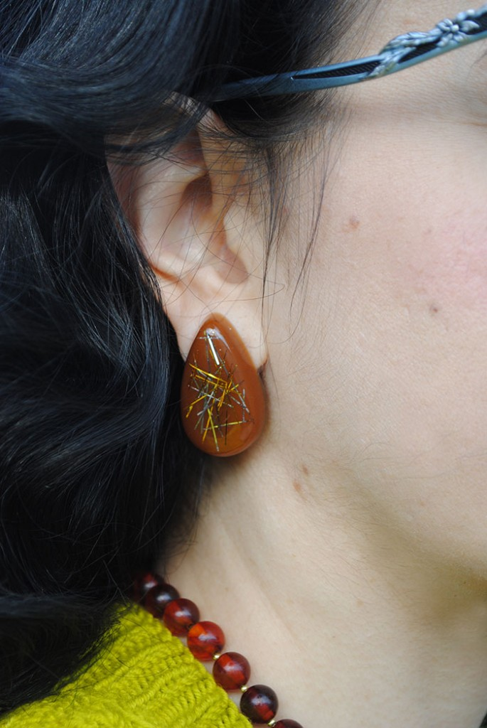 By Gum, By Golly tinsel earrings