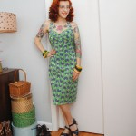 One last summer sewing hoorah: Chinese lanterns sarong dress