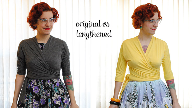 original vs lengthened Butterick B6285