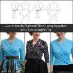 Pattern hack: turn Butterick B6285 wrap top into a tuck-in surplice top