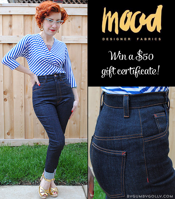 Mood Fabrics giveaway at By Gum, By Golly