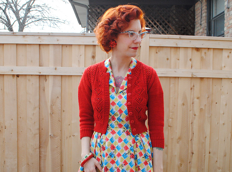 Cropped Ten of Hearts cardigan