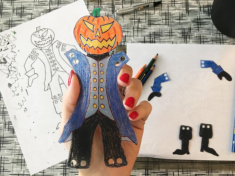 headless horseman shrinky dink