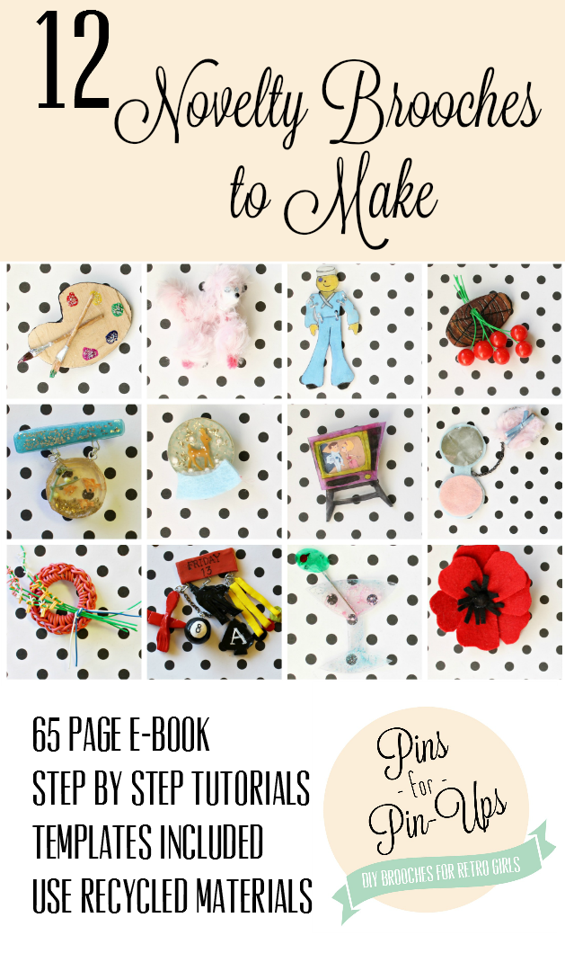 pins for pin-ups 12 diy novelty brooches by Va-Voom Vintage