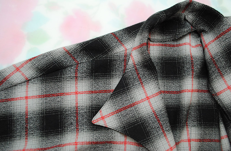 flannel tie-front topper back
