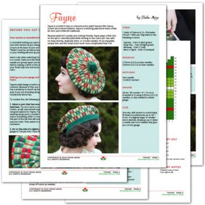 Fayne knitting pattern by Tasha Moss
