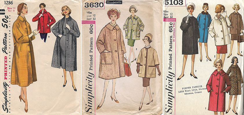 vintage Simplicity coat patterns