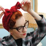 Grab and go knitting: an Angel Face turban