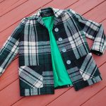Pendleton-inspired plaid coat