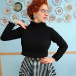Perfect 1950s cropped pullover, by way of modern knitwear design