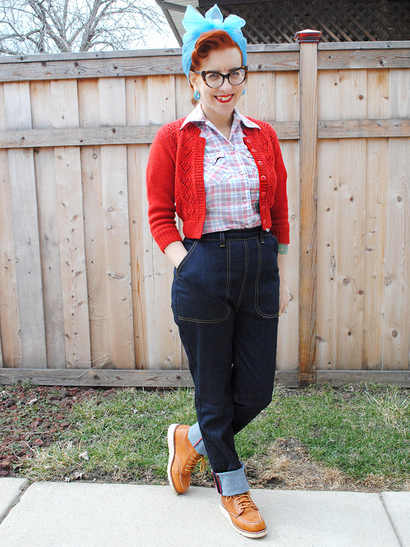 1950s Style Cuffed Jeans And Informal Video Extravaganza